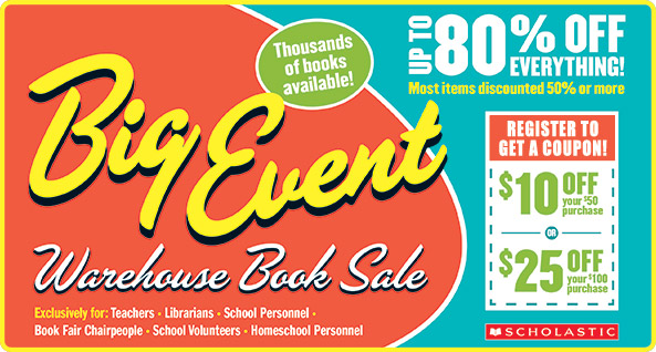 Family Events SF Bay Area: Scholastic Book Fairs' Warehouse Sale